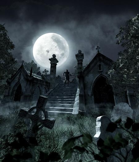 Ceva se mişcă în cimitire