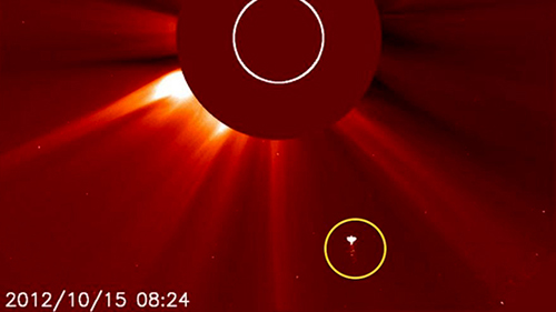 Un înger surprins de NASA în apropiere de Soare