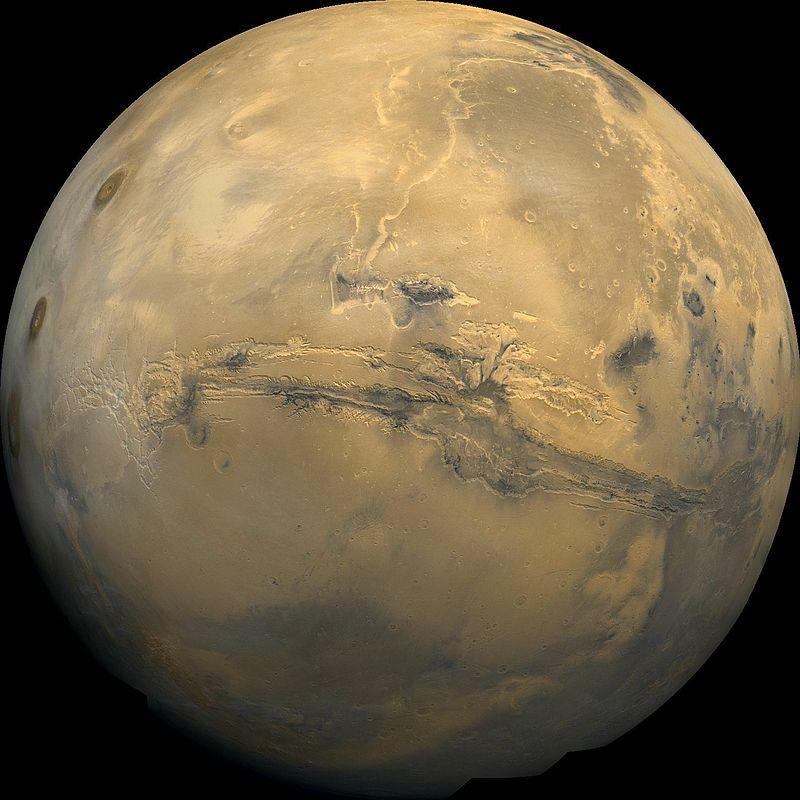 Marte. Foto NASA / USGS. Sursa Wikipedia.