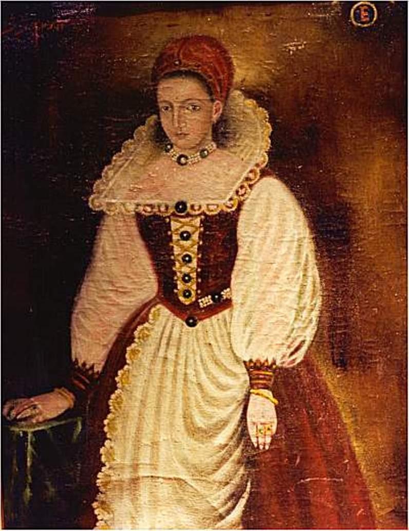Contesa maghiară Elizabeth Bathory, una dintre cele mai sângeroase din Istorie, portret din 1585.
