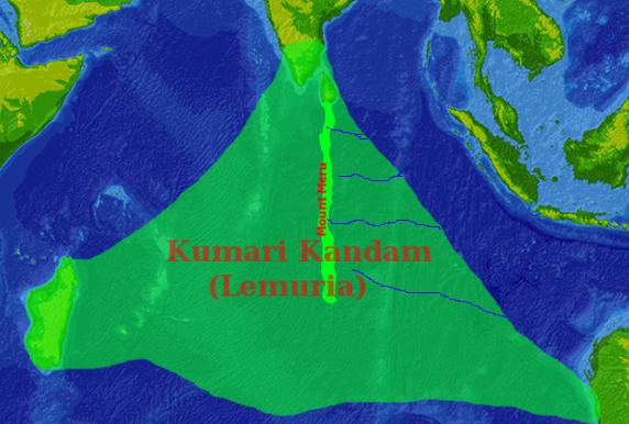 Lemuria Kumari_Kandam_map